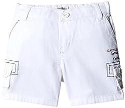 Nauti Nati Boys' Shorts (NAW15-489_7-8 Years_White)