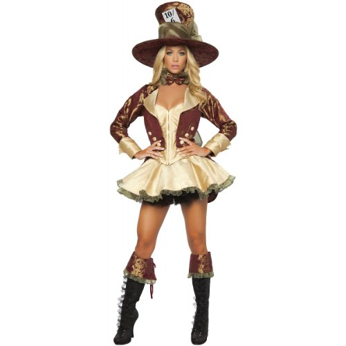 Deluxe Tea Party Hatter Costume - Medium - Dress Size 6