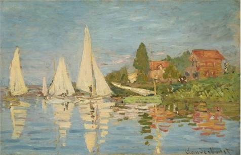 High Quality Polyster Canvas ,the High Definition Art Decorative Prints On Canvas Of Oil Painting 'The Regatta At Argenteuil 1872 By Claude Monet', 18x28 Inch / 46x71 Cm Is Best For Foyer Artwork And Home Decor And Gifts