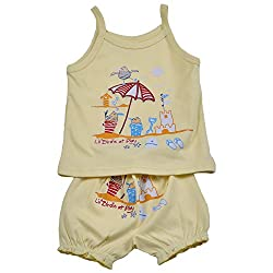 KandyFloss Baby Dress (Lemon Yellow,6-9 Months)