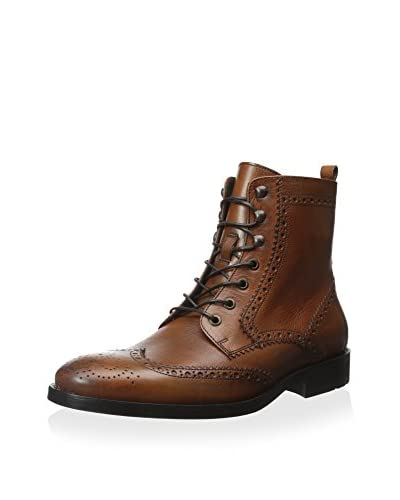 A. Testoni Men's Casual Wingtip Boot with Brogue