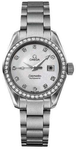 Omega Women's 2565.75.00 Seamaster Aqua Terra Automatic Diamond Bezel Watch