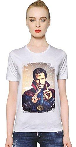 Doctor Strange Magic Power T-shirt donna Women T-Shirt Girl Ladies Stylish Fashion Fit Custom Apparel By Slick Stuff Medium