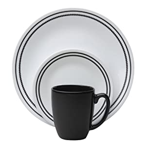 Corelle Livingware 16-Piece Stoare Mug, Brilliant Black Beads from World Kitchen (PA)