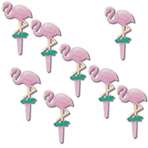 Flamingos Re-Usable CupCake Pics