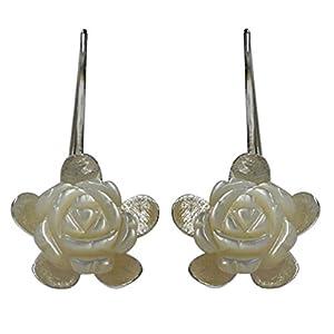 Boucles d'oreilles Chic-Net argent 925 Boucles d'oreilles en argent Bijoux Mère Boucles d'oreilles des femmes de Pearl Rose