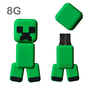 GNG TWO 8GB Flash Drive Minecraft Creeper Twin Pack USPS First Class Mail Shipping