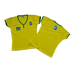 Buy Brasil Women Jerseys World Cup 2014 Size Sm, Md, Lg by PerUsasports