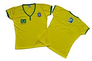 Buy 2014 Brasil Women Soccer Jerseys Size Large by PerUsasports
