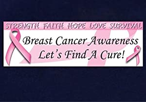 Breast Cancer Pink Ribbon Awareness Banner (1 Banner) from Fundraising For A Cause