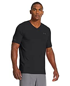 Under Armour Men's Charged Cotton® V-Neck T-Shirt Medium Black