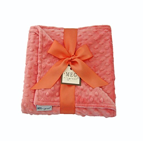 MEG Original Coral Minky Dot Blanket for Baby Girls 354