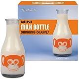 Accoutrements Monkey Face Mini Milk Bottle Drinking Glasses