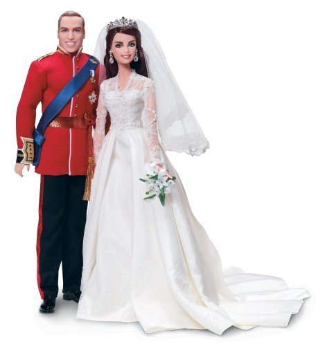 Barbie-William-and-Catherine-Kate-Middleton-Royal-Wedding-Collector-Gold-Label-Exclusive-Doll-Giftset-by-Mattel