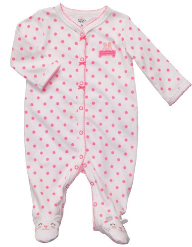 Carters Easter Bunny Snap Up Sleep & Play White/Pink Newborn front-1015072
