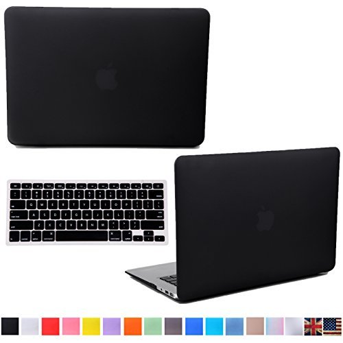 HDE MacBook Pro 15 Inch Retina Case Hard Shell Cover Rubberized Soft Touch + Keyboard Skin- Fits Mac Notebook 15.4