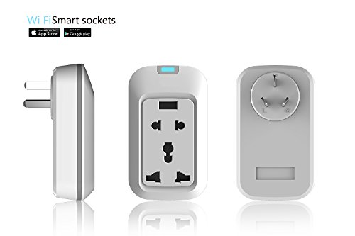 Wifi Smart Socket Wireless Remote Control Switch Power Socket UK Plug Android + iOS Supported,White (Zigbee Appliance Module compare prices)