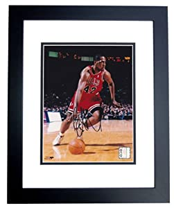 Elton Brand Autographed Hand Signed 8x10 Chicago Bulls Photo - BLACK CUSTOM FRAME by Real Deal Memorabilia