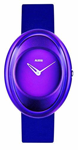 Alessi - AL19003 - Montre Femme - Quartz - Analogique - Bracelet Cuir Violet