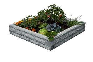 Good Ideas GW-RBG-LIG Garden Wizard Raised Bed Garden, Light Granite
