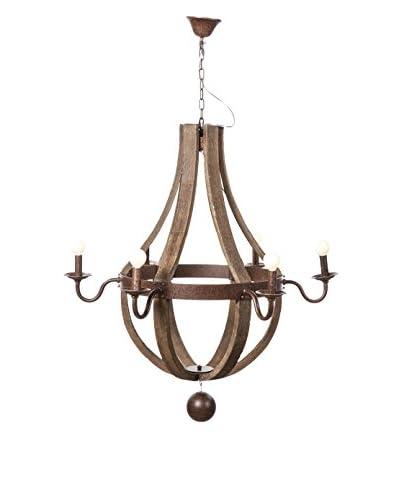 Control Brand Hvitsen 6-Light Chandelier, Wood