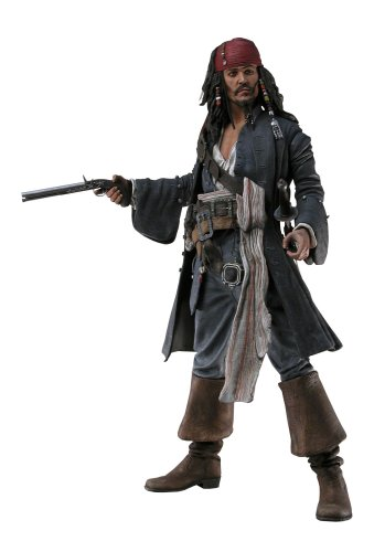 Buy Low Price necapotcb Jack Sparrow 8 inch Action Figure from Pirates of the Caribbean 2 Dead Man's Chest by NECA (B000J549OE)