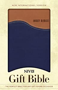 NIV Gift Bible, Tan/Blue
