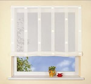 raffrollo happy home 430 fertiggardine creme 100 cm breit. Black Bedroom Furniture Sets. Home Design Ideas