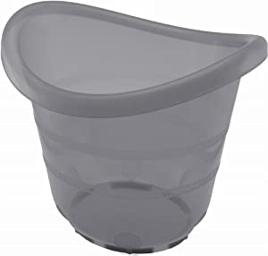Cubos de atención de baño de plástico / bañar gris transparente