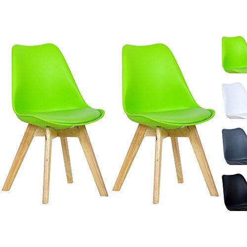 WOLTU #364 Esszimmerstühle 2er Set Esszimmerstuhl Design Stuhl Küchenstuhl Holz, Neu Design
