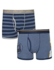 2 Pack Stretch Cotton The Simpsons Trunks