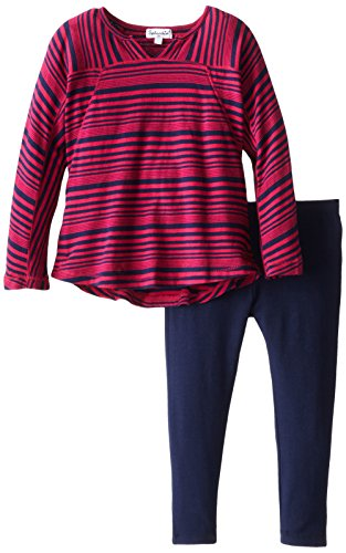 Splendid Little Girls' Aster Tunic Set Tod, Fuchsia, 3T back-1089381