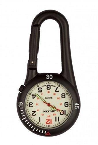 montre-fob-noire-clip-sur-mousqueton-cadran-blanc-ideal-pour-medecins-infirmieres-paramedicaux-chefs