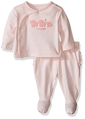 The Children's Place Baby Sleep 'N Play Romper Playwear, Pink, 0-3 Months