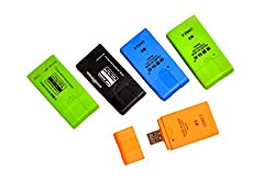 Tfpro T539 Multi Card Reader (Combo Of 5Pcs) All in 1 Super Speed Multi-Card Reader for Micro SD T-Flash(TF) SD SDHC SDXC MS CF Cards (TS-RDF8K)