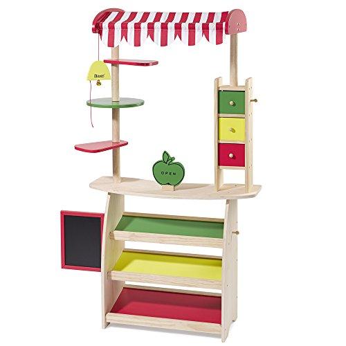 Holz SpielkUche Von Beiden Seiten Bespielbar ~ Kaufmannsladen aus Holz Kaufladen Kinderkaufladen