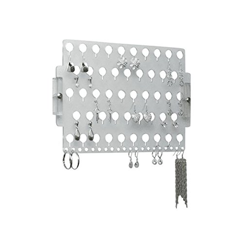 Wall Earring Holder Organizer Rack Jewelry Storage Closet Organizer - Angelynn's (Earring Angel Clear) (Earring Rack Wall compare prices)