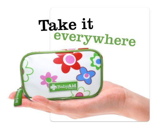 First Aid kit for kids, toddlers and babies, essential pocket sized compact children's emergency kit, fits in your handbag, great for all the family for home and travel, Baby Aid Compact First Aid Kit for babies on the go.