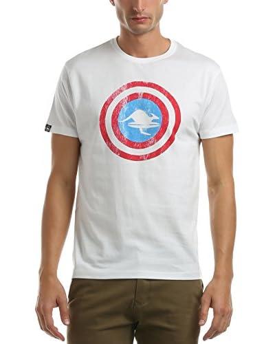 Hot Buttered Camiseta Manga Corta Iron Man Blanco