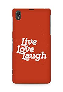 Amez Live Love Laugh Back Cover For Sony Xperia Z1 C6902