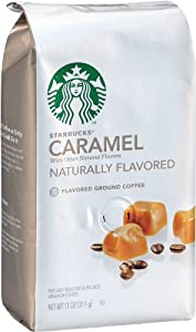 Starbucks Natural Fusions Ground Coffee, Caramel Flavored, 11 Ounce