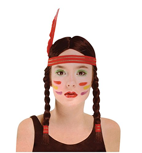 Bristol Novelty Black Indian Squaw Wig Wigs Women's One Size