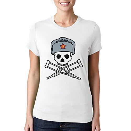 SSRS JACKASS LOGO-T-Shirt da donna bianco Large