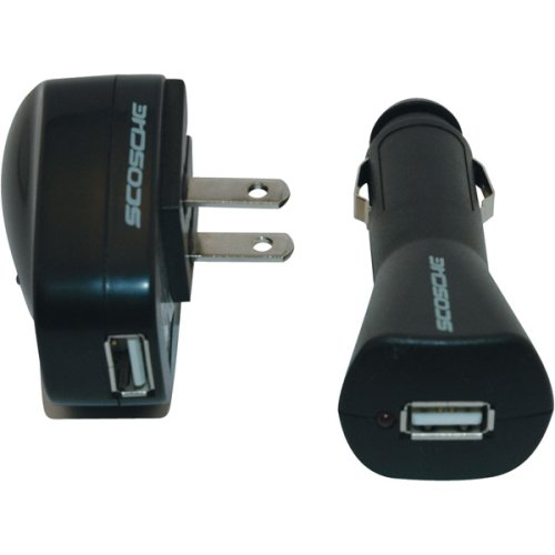 Scosche IP2IN1 iPod/Universal USB Charger for Home and Car