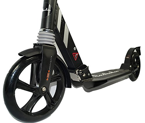 Tackedoo Adults & Teens Scooter with Dual Suspension - Black