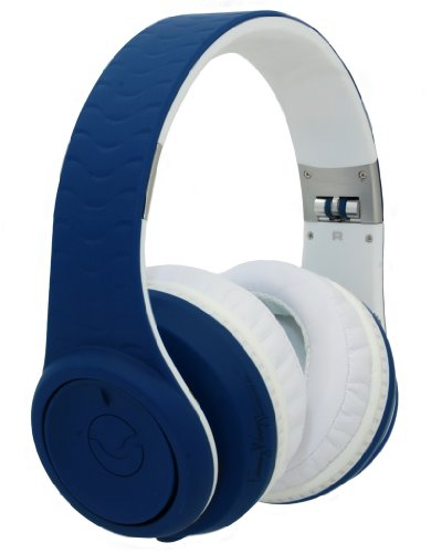 Fanny Wang 3000 Series Over-Ear Wangs Luxury Headphones With Active Noise Canceling And Apple Integrated Remote And Mic - Navy (Fw-3003-Nvy)