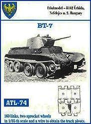 Friulmodel Atl74 1:35 Metal Track Link Set W/Drive Sprockets For Russian Bt 7