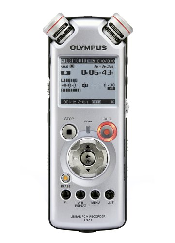 Olympus LS-11 Linear PCM Recorder - Digital voice recorder + Remote Control - flash 8 GB - WMA, MP3 - silver