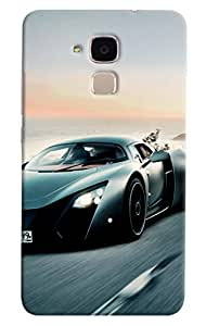 Omnam Sports Car Moving Fast Printed Designer Back Cover Case For Huawei Honor 5C