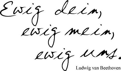 Wandtattoo quot ewig dein ewig mein ewig uns quot for Ewig dein ewig mein ewig uns englisch